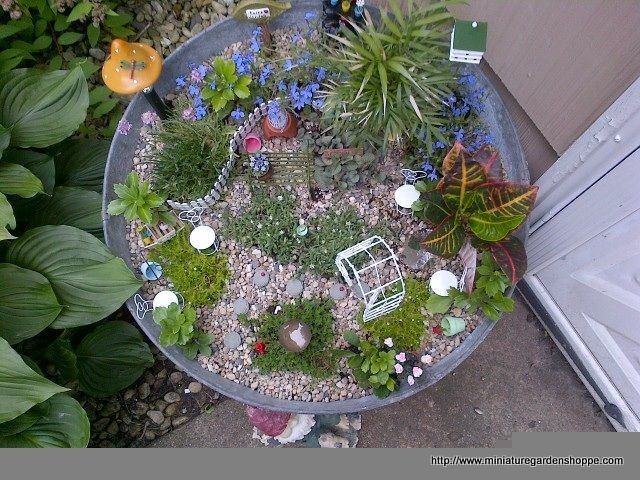 miniature garden example | Fairy Gardens | Pinterest