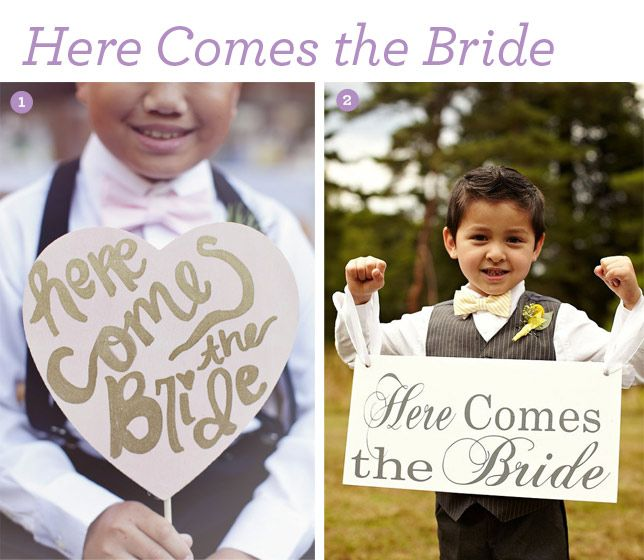 Here Comes The Bride Sign: Best Here Comes The Bride Signs