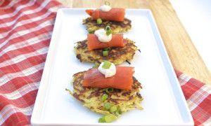 Parsnip-Apple Latkes with Smoked Salmon | Recipe