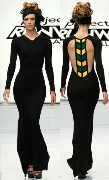Mondo's Jamaica flag dress- from Project Runway All stars
