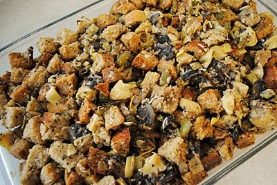 sourdough artichoke-parmesan stuffing} | on the side. | Pinterest