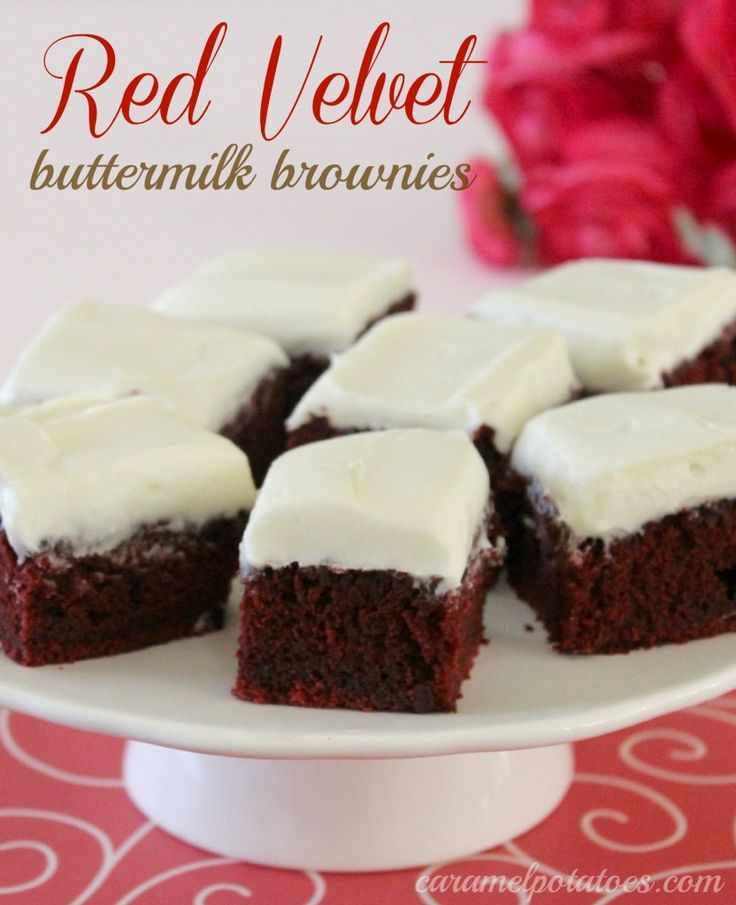 Red Velvet Brownies with Cream Cheese Frosting - more like a sheet ...