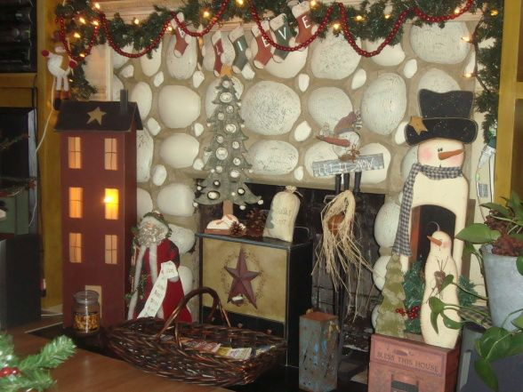 Primitive Christmas Decorating Ideas | COUNTRY PRIMITIVE CHRISTMAS ...
