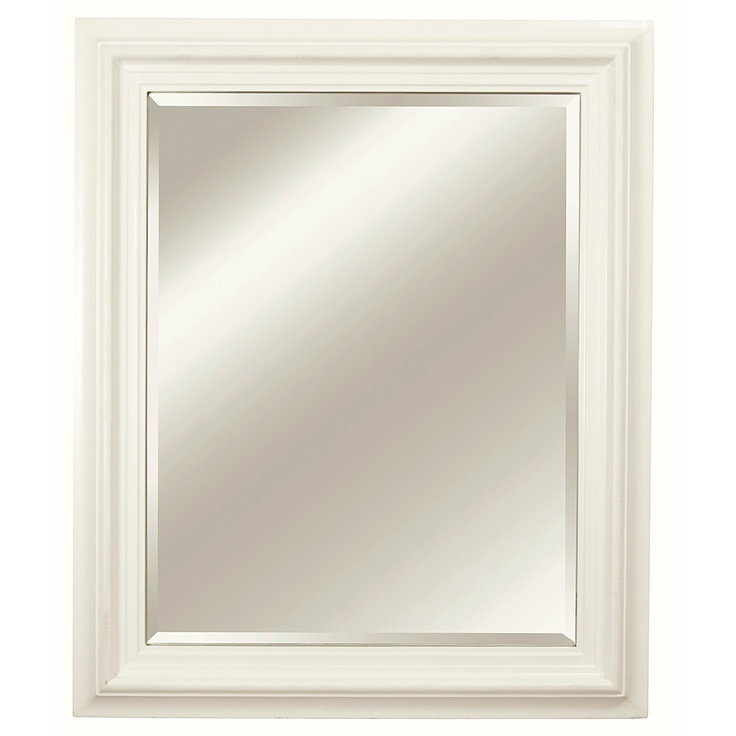 Rectangular framed off white vanity mirror for White framed mirror