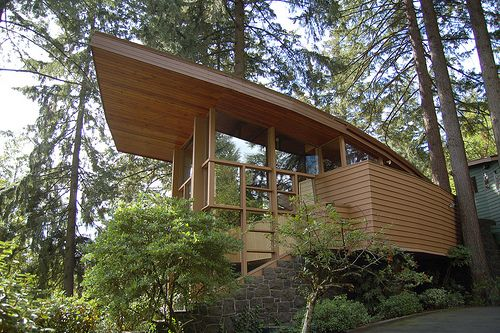Organic architecture school of big thinking pinterest Modern house portland