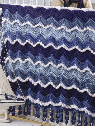 ocean waves blanket //crochet crochet afghans Pinterest