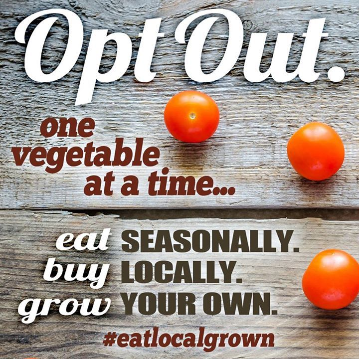 We like the sound of that! Shoutout to Eat Local Grown for the photo!