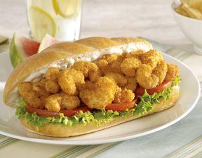 Shrimp Po' Boy Sandwich | Sandwiches and Wraps for All | Pinterest