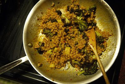 roasted broccoli and farro salad | Must Eat This - Salad | Pinterest