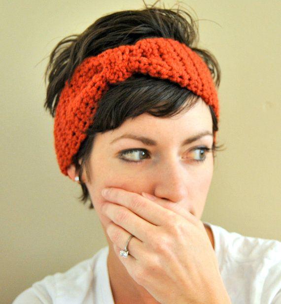 Crochet Hair For Adults : Custom Adult Crochet Faux Bow Headband Headwrap Earwarmer You Choose ...