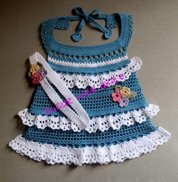 Baby Sun Dress and Headband 10 Crochet Thread 12 by SugarToeBabies, $4 ...