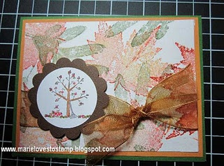 Card made with coffee filter