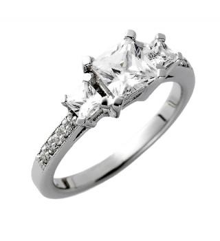 Multi-stone princess cut diamond engagement ring by Spence Diamonds