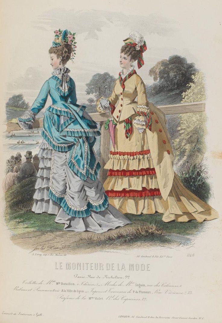 Le moniteur de la mode 1874 late victorian fashion pinterest - Le journal de la mode ...