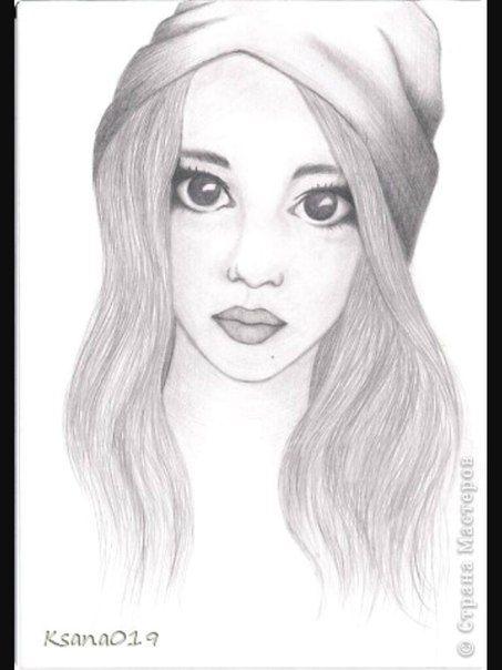 Рисунки девочки портрет