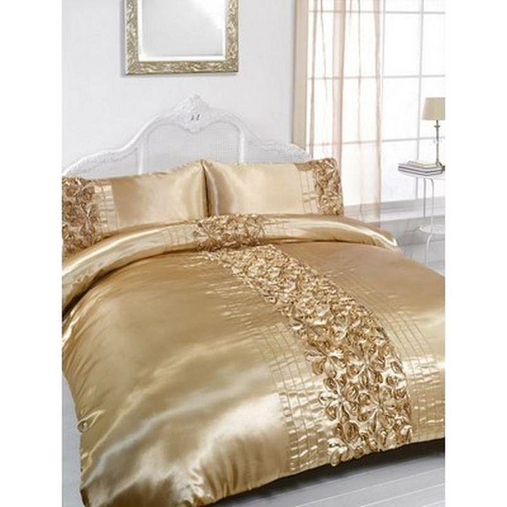 Rita Gold Embellished King Size Duvet Amp Pillowcase Bedding Set