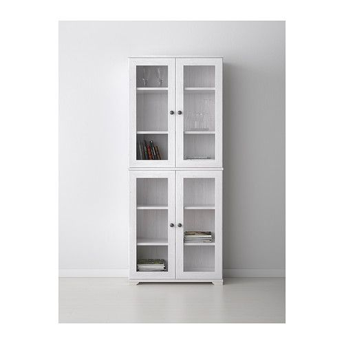 Ikea Malm Attached Nightstand ~ BORGSJÖ Glass door cabinet IKEA With a glass door cabinet, you can