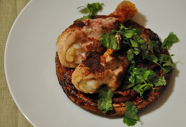 Roasted Sumac Chicken Atop Pita and Onions by Turntable Kitchen, via ...