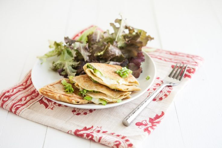 Grilled Cheese Crepes with Shaved Asparagus / naturally ella