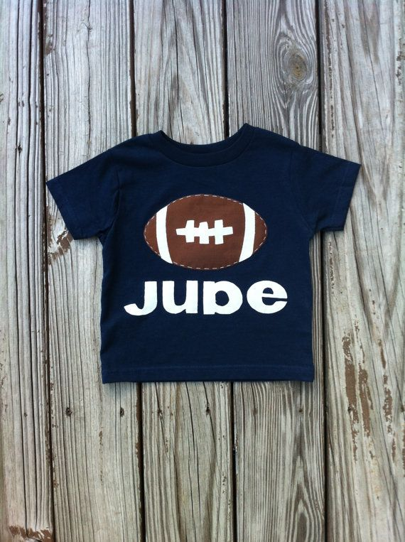 boutique. personalized applique game day football shirt. navy blue