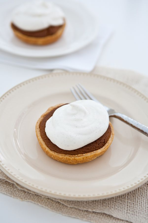 Mini Gingerbread Cookie Pies with Spiced Cream | Recipe