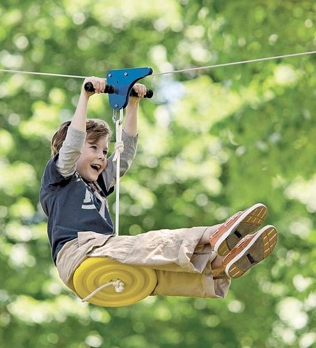 Slackers Eagle Series 70Foot Zipline with Seat Kit Outdoor Play Toys