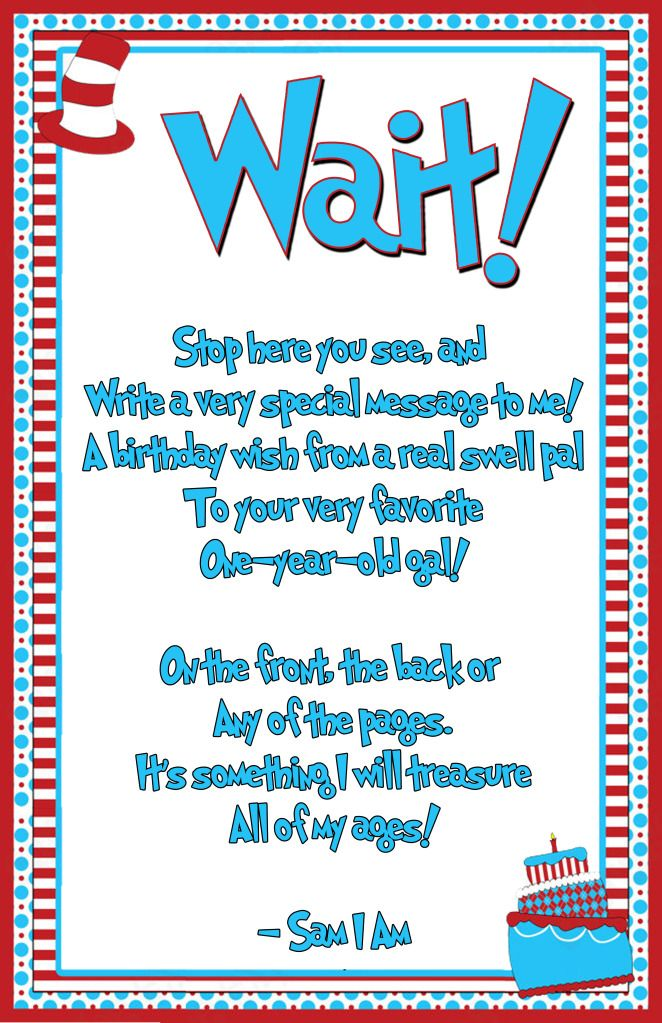 dr seuss birthday sign in book - Google Search