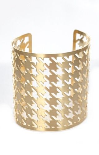 Hip Houndstooth Cuff