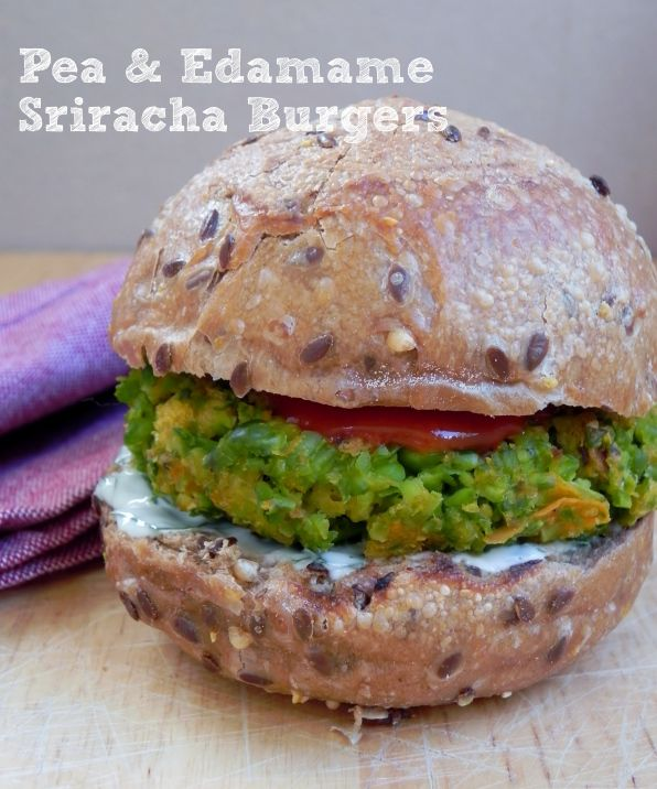edamame and pea burger.. | Sandwiches and Burgers | Pinterest
