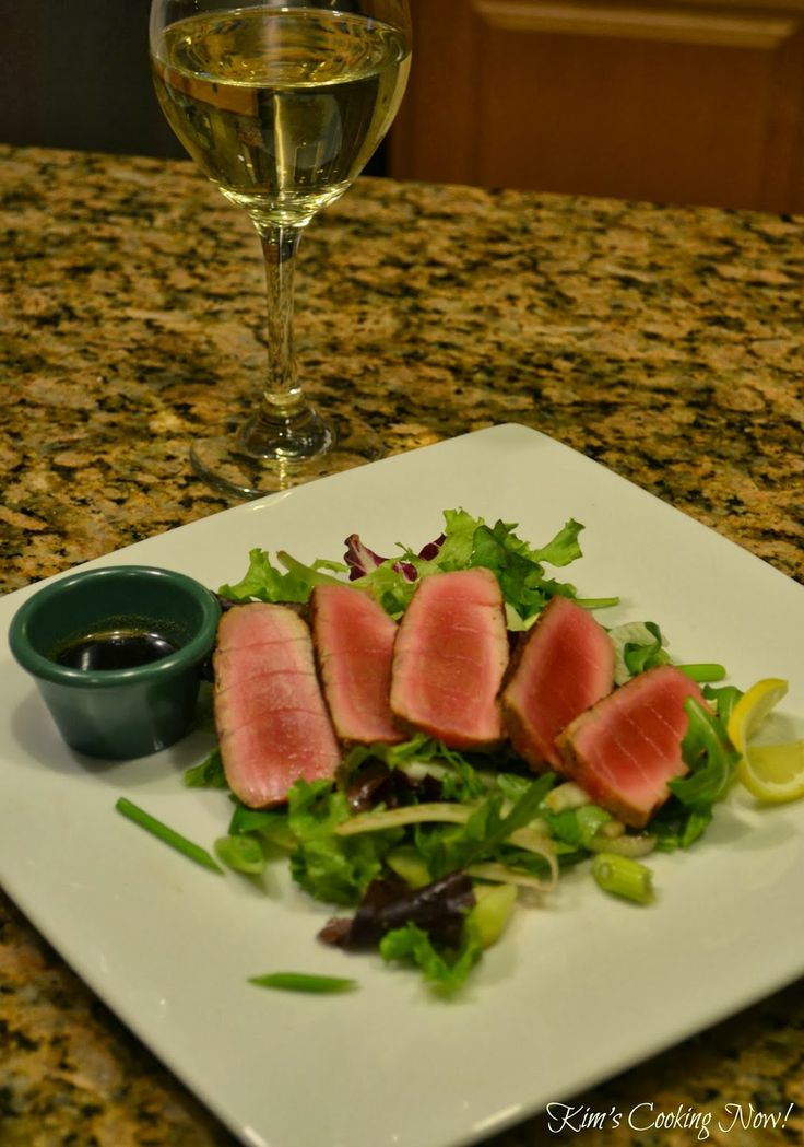 noodles seared tuna with wasabi butter sauce seared tuna with tomato ...