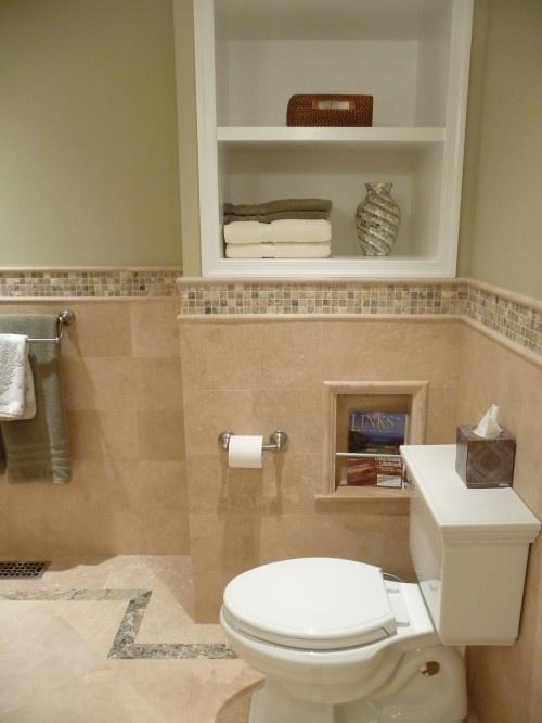 pretty tile border master bath ideas pinterest