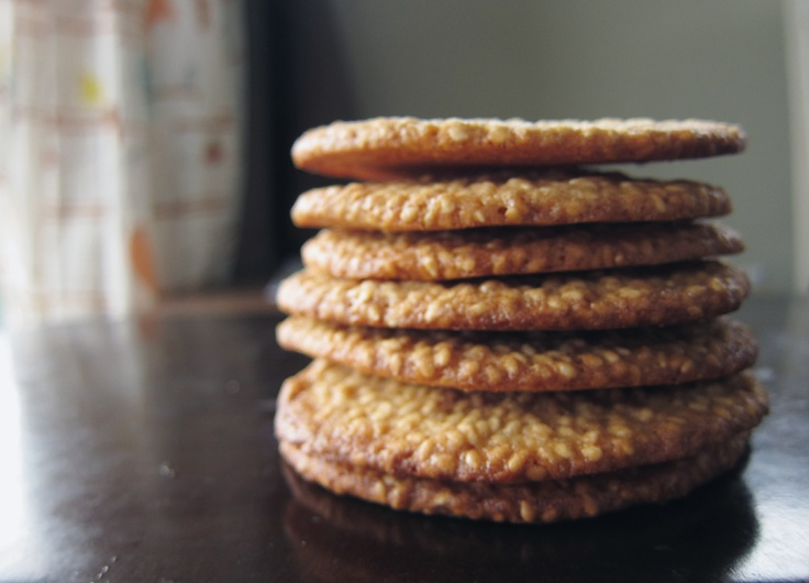 benne wafers ~ sesame seed cookies that are sweet and nutty | Desserts ...