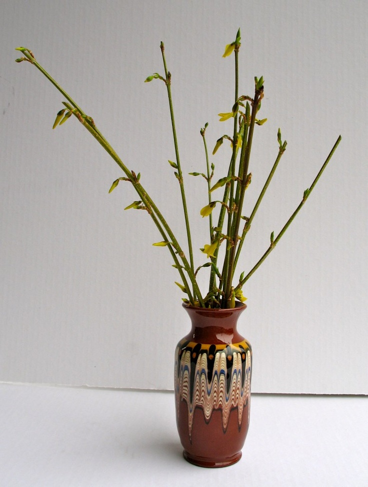 Does anyone have information about this hand painted terra cotta vase?