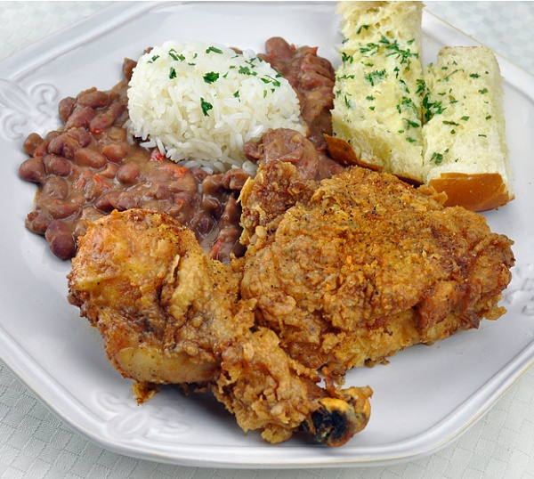 Cajun Fried Chicken and Red Beans & Rice-this is awesome. Have made ...