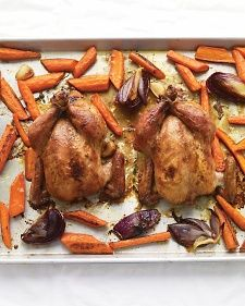 Maple-Glazed Cornish Game Hens with Carrots. I've made this several ...