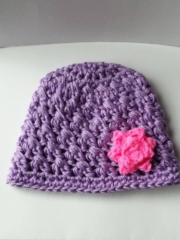 Crocheting Clusters : Crocheted Cluster & Flower Beanie My Crochet Work Pinterest
