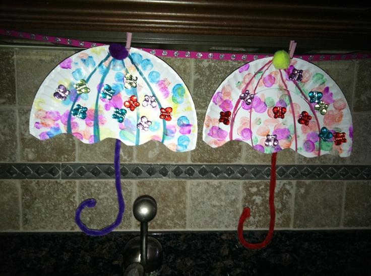 umbrella spring craft kid crafts pinterest