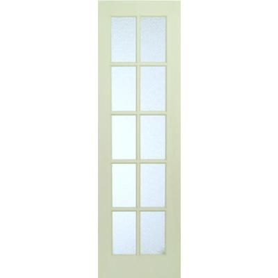 Milette interior 10 lite french door primed with martele privacy