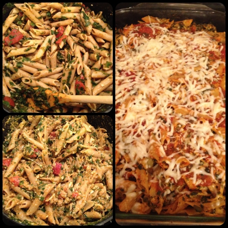 ... http://www.skinnytaste.com/2010/09/low-fat-baked-ziti-with-spinach