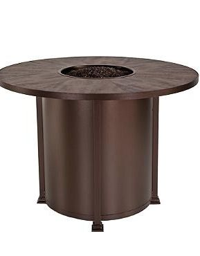 Your guests will love gathering around the Santorini Counter-height Fire Table for great conversation and warmth.
