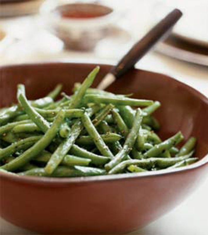 Oven-Roasted Green Beans | Delicious Things | Pinterest