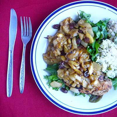Seared Chicken with Pear Sauce | For Mama to try | Pinterest