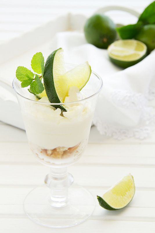 Cheesecake with lime in a glass. | Sweets! | Pinterest