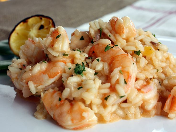 fresh pea risotto with spicy grilled shrimp recipe shrimp risotto ...