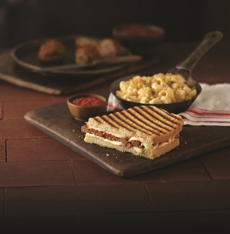 Sliced Meatball Panini and Mac & Three Cheese Combo from @Corner Byrne ...