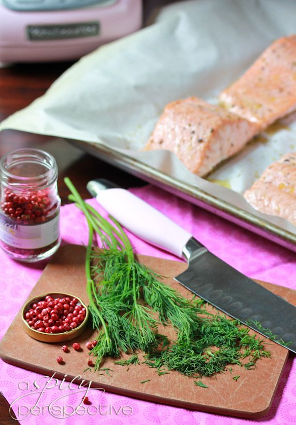 Roasted Salmon With Pink Peppercorn Sauce | Recipe