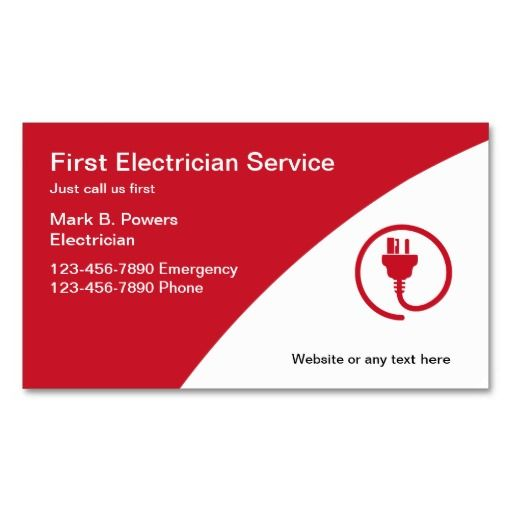 Electrician business cards for Electrician business card