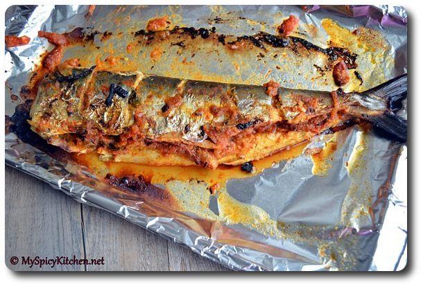 Anjum's New Indian Grilled Stuffed Fish, Grilled Spanish Mackerel,