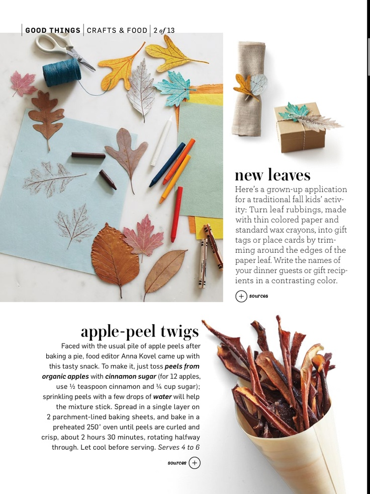 Apple peel twigs; wish I had remembered this when we were making tons ...