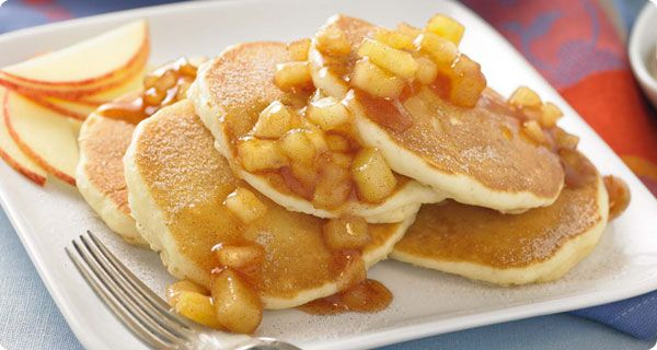 Spiced Apple Pancakes...and i'm making this next lol